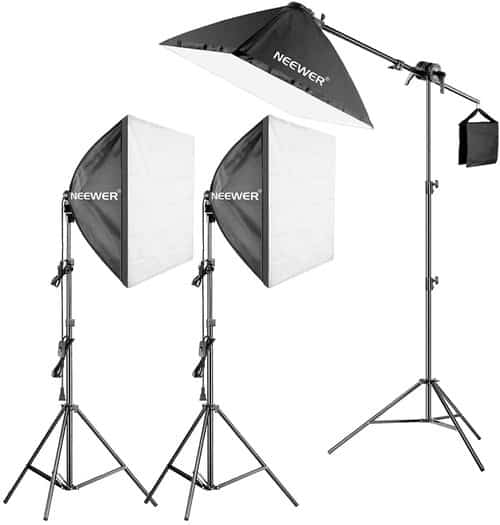 lighting kit for overhead video setup