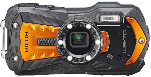 Ricoh WG-70 is One of the best waterproof cameras for  kayak fishing.